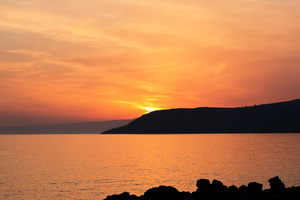 Greece sunset: Sunset in southern Greece.