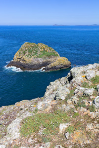 Island coastline: Islands off the coast of Pembrokeshire, Wales.