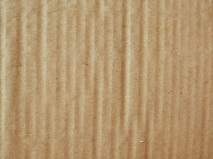 ribbed cardboard surface