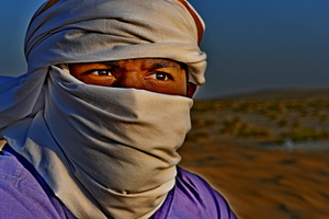 Desert man with Head Scarf