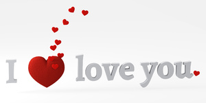 I love you 3: I love you message with big red heart