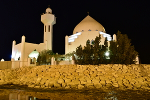 mosque on the beachfront