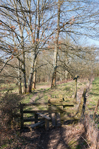 Rural footpath and stile