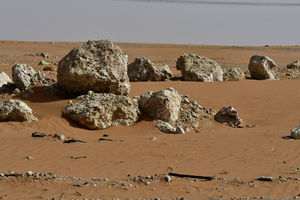 Rocks found in the desert