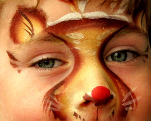wild creature1: face painted youngster
