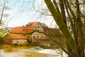 old half-timbered mill