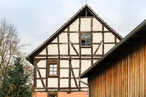 half-timbered house gable