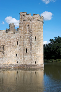 Castle turret and moat