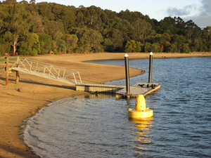 Jetty at Lysterfield Lake