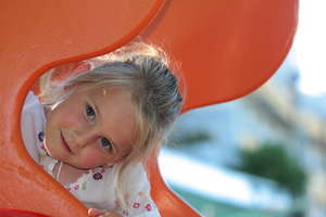 Girl & slide 1