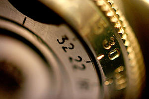 Camera Dial: One of the many dials on the Zenit-E camera that I salvaged, so I could reverse mount the lens and make super macros :P