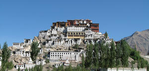 Thiksey Monastery: View of the Thiksey Monastery