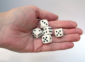 dices in hand: none