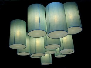 Light Cylinders 1: Illuminated cylinders in different shades and shapes.