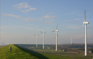 windmills in a row