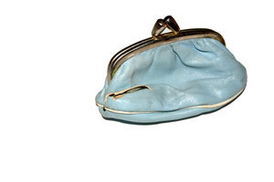 purse: little blue purse