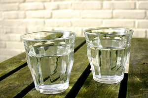 water: two glasses of water