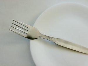 Waiting: Fork and a plate