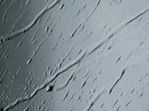 Raindrops 1: Raindrops on window shield