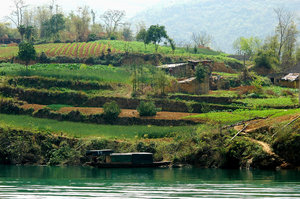 Farm: Farm along the Daning River (tributary of the Yangtze river).When the Three Gorges Dam is completed this farm will be underwater...