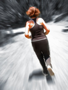 Woman Jogging Blur
