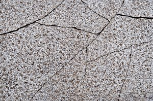 Granite paving stone 2: Granite paving stones, with and without cracks.