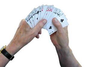 Old man's hand: Old people playing bridge. Please mail me or comment this photo if you liked/used it. Thanks in advance!I would be happy to receive the information about picture usage. I would be extremely happy to see the final work even if you think it is nothing speci