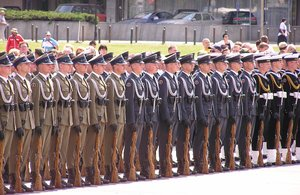 Parade: Soldiers on the Pilsudski Square, in front of the Grave of Unknown Soldier. Please e-mail me if you used my photos.I would be happy to receive the information about picture usage. I would be extremely happy to see the final work even if you think it is no