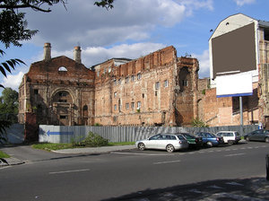 A ruin in the center of Warsaw