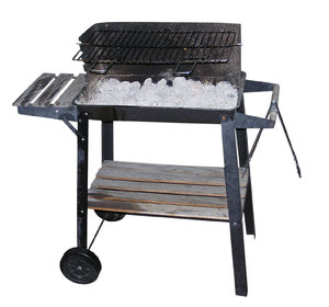 Grill: Just a grill, isolated, with white hot coal.Please comment this shot or mail me if you found it useful. Just to let me know!I would be extremely happy to see the final work even if you think it is nothing special! For me it is (and for my portfolio).