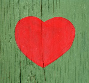 heart on wood 1