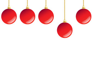 5 Red Baubles