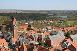 Danish town: View from a tower of a small town in Denmark.