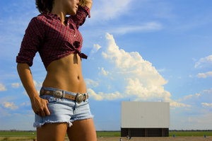 belly button: amy at the drive in