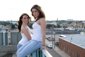 Amy Lee and Kayla 3: Two girls downtown