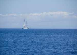 The Ship: A ship I saw from my snorkel cruise.