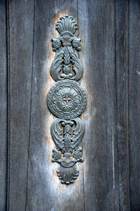 Furniture: Old furniture of doors in Warsaw