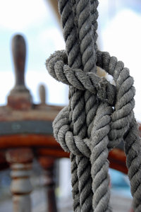Knot on the deck of sail
