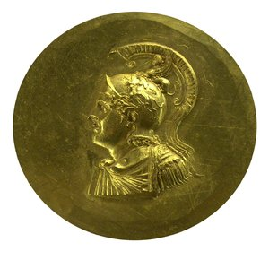 Golden ancient greek coin 1