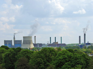Intoxication of environment: Smoked factories chimneys