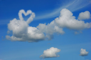 Heart on the clouds