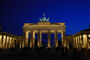 Brandenburg Gate at night 1