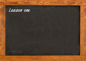 Blackboard in the classroom 2