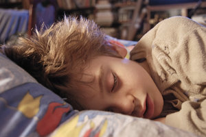 Sleep safety: Sleeping of 7 year old boy