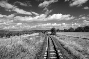 Black&white rail landscape wit