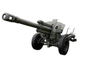 Isolated 152 mm howitzer Model