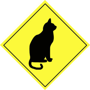 Animal warning sign 5