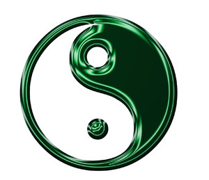 Yin Yang symbol 3: Chinese sign of balance