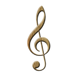 G-clef sign 1: A clef (from the French for