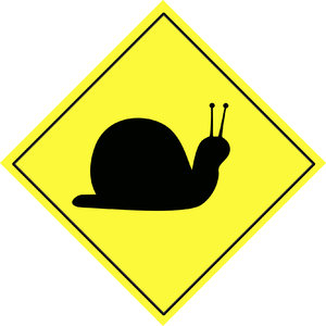 Snail traffic sign  9